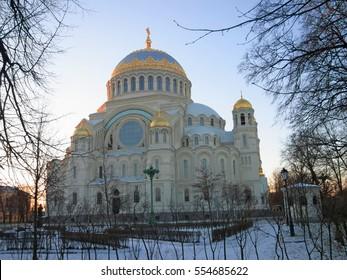 Kronstadt Naval Cathedral (Kronstadt) in winter
