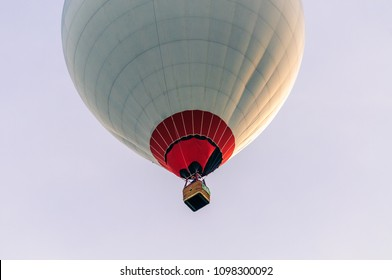 Krosno, Poland, may 02, 2017: XIX-th International Mountains Hot Air Balloons Competition - Start et the evening of the 3-th day of competition.
