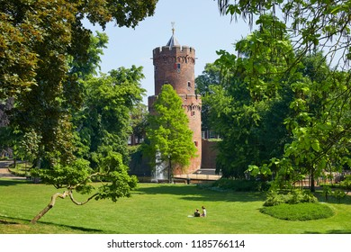 The 'Kruittoren' (Gun Powder Tower) from 1426 in the 'Kronenburger Park', Nijmegen, the Netherlands