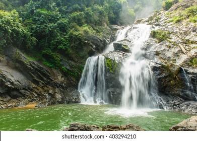 Krungshing Waterfall Khao Luang National Park, Nakhon si thammarat Thailand(Un-focus image)