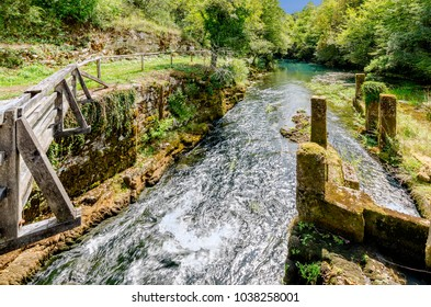 Krupa river, Bela Krajina (White Carniola) region in Slovenia, Europe. - Shutterstock ID 1038258001