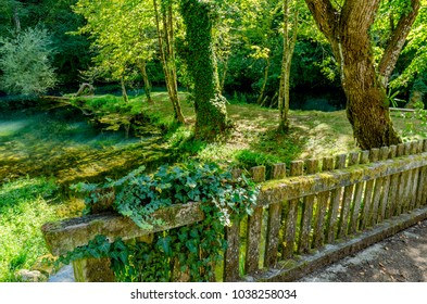 Krupa river source, Bela Krajina (White Carniola) region in Slovenia, Europe. - Shutterstock ID 1038258034
