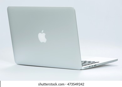 Krynica-Zdroj, POLAND - AUGUST 17, 2016: Photo of a MacBook Pro. MacBook Pro Retina made by Apple Inc.
