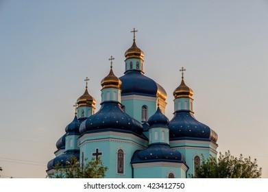 Kryvyi Rih, UKRAINE-20.05.2016: Spaso-Preobrazhensky carthedral.