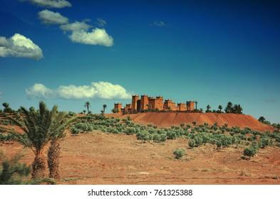 Ksar of Ait Benhaddou, Kasbah, Moroccan Earthen Clay Architecture, Ouarzazate, Morocco