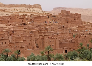 Ksar casbah of Ait Benhaddou, a fortified city, the former caravan way from Sahara to Marrakech. UNESCO World Heritage, Morocco