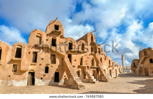Ksar Ouled Soltane near Tataouine in South Tunisia. North Africa
