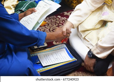 Kuala Lipis Pahang Malaysia 23rd July 2016 - Islamic Wedding Ceremony In Malaysia Full Of Customs And Culture