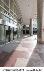Kuala Lumpur 15 Oct 2017  Malaysia: Main entrance of the building with nice sunlight