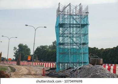 KUALA LUMPUR, 20 APRIL 2018. Construction of DASH HIGHWAY .DASH is a 20.1km, three-lane elevated dual-carriage expressway running from Puncak Perdana U10 Shah Alam Interchange to the Penchala Link