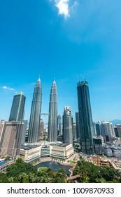 Kuala Lumpur, 22 OCT 2017 Malaysia: Nice view of Kuala Lumpur city skyline