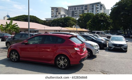 KUALA LUMPUR, 31 MAY 2017: cars in parking lot  for sale.