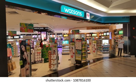 Kuala Lumpur 6thMay2018. Watsons is one of the pharmacy/ drugstore brand in Malaysia. Watsons is the flagship health and beauty brand of A.S. Watson Group.