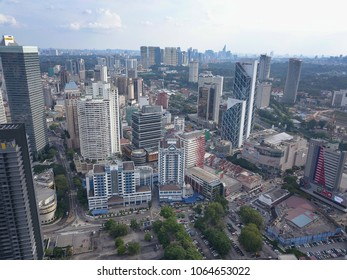 Kuala Lumpur - 8 APRIL 2018 : Kuala lumpur skyline, Malaysia