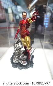Kuala Lumpur- April 19,2019: An action figure of Ironman on display at the KLIA Airport