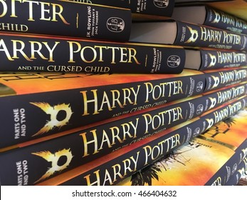 Kuala Lumpur, August 10, 2016. The book 'Harry Potter and the Cursed Child - Parts One & Two (Special Rehearsal Edition)' on display at Kinokuniya Bookstore, Suria Mall, Kuala Lumpur City Centre.