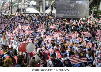 Kuala Lumpur August 31, 2016, joyous celebration of Independence Day in celebrating excited by all Malaysians to attend the rally and parade at  Kuala Lumpur.
