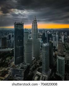Kuala Lumpur city centre, the petronas twin tower in Malaysia