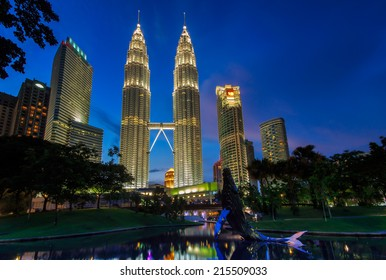 Kuala Lumpur city during blue hour.