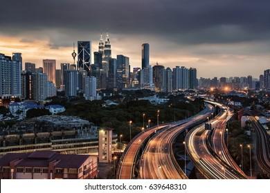 Kuala Lumpur city in Malaysia