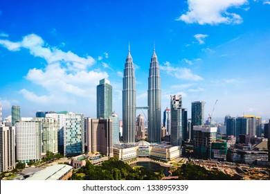 Kuala lumpur city skyline, Malaysia