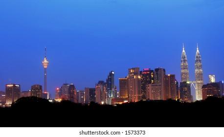 Kuala Lumpur at dusk, Malaysia