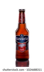 KUALA LUMPUR - FEBRUARY 10: Bavaria Strawberry Malt Drink is specially brewed to contain no alcohol and is a genuine 0.00% beer shot on February 10, 2018 in Kuala Lumpur.