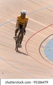 KUALA LUMPUR - FEBRUARY 9: Azizulhasni Awang, rider from Malaysia during Asian Cycling Championships 2012 held in Kuala Lumpur, Malaysia on February 9, 2012.