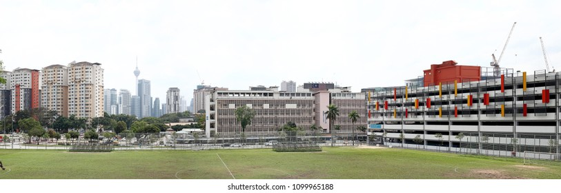 KUALA LUMPUR - JAN 17, 2016: Panoramic view of KL General Hospital in Jalan Pahang, KL. The hospital founded in 1870 serves as the flagship hospital of the Malaysian public healthcare system.