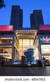 KUALA LUMPUR - JANUARY 8: Exterior of PAVILION on January 8, 2011 in Kuala Lumpur, Malaysia. PAVILION is the largest shopping destination in Malaysia consist of luxury fashion, food and urban leisure.