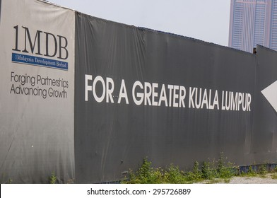 KUALA LUMPUR - JULY 12: Board showing 1MDB on July 12, 2015 at KL Malaysia. The scandal on 1MDB involved money transferred to Malaysia Prime Minister's personal bank account.