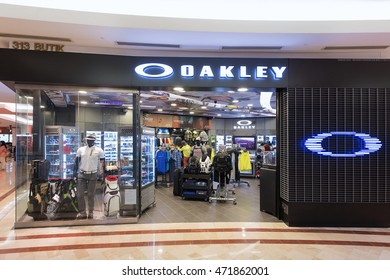 KUALA LUMPUR - JUNE 15, 2016: The Oakley store in the Suria KLCC shopping mall. Oakley currently holds more than 600 patents for eyewear, materials, and performance gear.