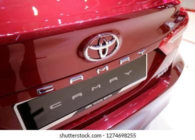 Kuala Lumpur, Malayisa - November 22.2018 :   A New Toyota Camry at Kuala Lumpur International Motor