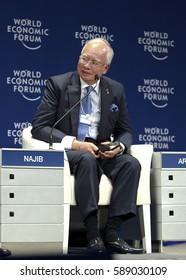 KUALA LUMPUR, MALAYSIA. 01 JUN 2016 - Prime Minister Malaysia, Datuk Seri Najib  Razak, (third from left), attend question and answer session at the World Economic Forum (WEF) ranked ASEAN 2016.