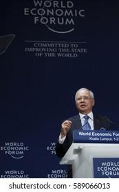 KUALA LUMPUR, MALAYSIA 01 JUNE 2016 - Prime Minister of Malaysia, Najib Tun Razak, in his keynote address the World Economic Forum (WEF) ranked ASEAN 2016.