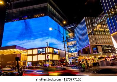 Kuala Lumpur, Malaysia - 01.07.2018: view of Pavilion Shopping mall  with tourist ,Kuala Lumpur