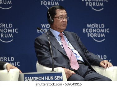 KUALA LUMPUR, MALAYSIA 02 JUNE 2016 - Prime Minister of Cambodia, Hun Sen, attend hosting the World Economic Forum (WEF) ranked ASEAN in 2017 at the closing ceremony of the forum.