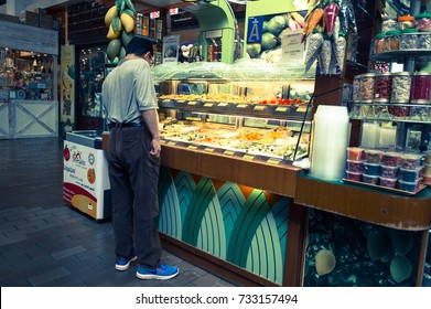 KUALA LUMPUR, MALAYSIA 07 OCTOBER 2017 - a pick away snack food stall in central market,kuala lumpur