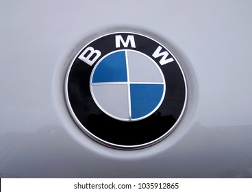 KUALA LUMPUR, MALAYSIA –MARCH 1, 2018: BMW car emblem and brand logo. Modern & high technology car build by one of the Germany famous car manufacture.