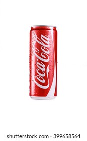 KUALA LUMPUR, MALAYSIA - 1 April 2016 - 330ml Coca cola isolated on white background.