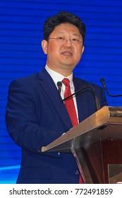 KUALA LUMPUR MALAYSIA - 10 DECEMBER 2017:  Bai Tian, the newly appointed China Ambassador to Malaysia giving a speech in kuala Lumpur.