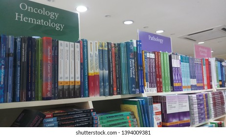 KUALA LUMPUR, MALAYSIA. 10th May 2019. Medical books at the medical book store. For reference and study in medico-logy.