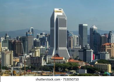KUALA LUMPUR MALAYSIA - 11  NOVEMBER 2017: Maybank Tower (Malay: Menara Maybank) is the headquarters of Maybank and houses the Maybank Numismatic Museum. it is located at Pudu, Kuala Lumpur.