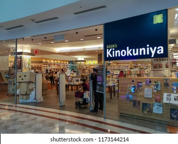 Kuala Lumpur, Malaysia, 11th August 2018 - Kinokuniya is a Japanese bookstore chain operated by Kinokuniya Co Ltd founded in 1927 with it first store located in Shinjuko Tokyo Japan