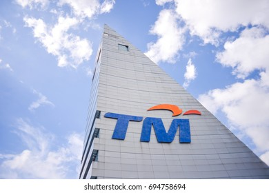 KUALA LUMPUR , MALAYSIA , 12 AUGUST 2017 : Telekom Malaysia Berhad DBA is Malaysia's leading telecommunications company, addition to offerings in data, fixed line, pay television and network services