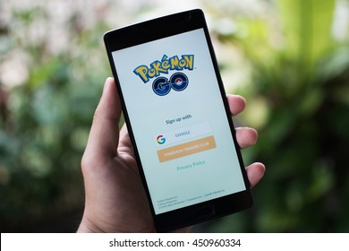 KUALA LUMPUR, MALAYSIA - 12 JULY 2016: Pokemon Go is a free-to-play, GPS based augmented reality mobile game developed by Niantic for iOS and Android devices