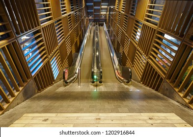 KUALA LUMPUR MALAYSIA - 14 Oct, 2018:Escalator at NU Sentral, Kuala Lumpur, Malaysia. Nu Sentral is a shopping, office block and apartment complex conveniently located next to KL Sentral station.