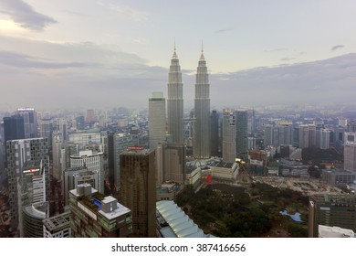 Kuala Lumpur Malaysia 14/02/2012 : Kuala Lumpur city during sunset with long exposure during sunset