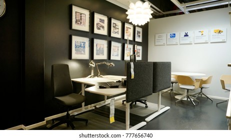 Office Furniture Showroom Images, Stock Photos & Vectors