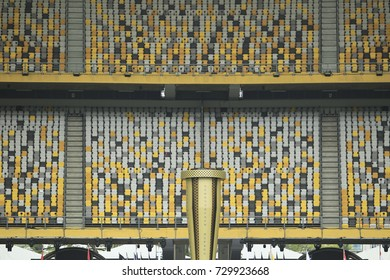 KUALA LUMPUR, MALAYSIA 19 SEPTEMBER 2017:  The 9th Sea Games 2017 at the Bukit Jalil Stadium, Kuala Lumpur.